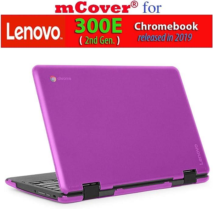 """mCover Hard Shell Case for 2019 11.6"""" Lenovo 300E (2nd Gen.) 2-in-1 Chromebook Laptop (NOT Fitting Lenovo 300E Windows & N21 / N22 / N23 /100E / 500E Chromebook) (Purple)"""