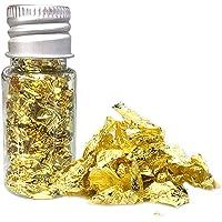 10 ml Eetbare Gouden Vlokken Folie Gouden Blad Bakken Gebak Kunst Ambachten Decoratie voor Keuken Schuim 24 Karaat…