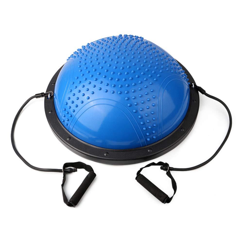 TESITE Yoga Ball Fitness Ball Gewichtsverlust Rehabilitation Training Balance Massage HemisphäRe (Blau)