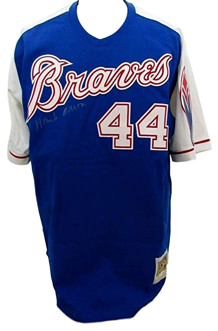 57e98822 Image Unavailable. Image not available for. Color: Hank Aaron Atlanta Braves  Signed Mitchell and Ness Jersey JSA 130056