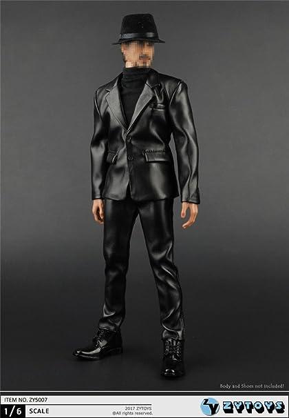 "ZYTOYS 1//6 Scale Black Hat Gentlemen Hat Model for 12/"" Action Figure"