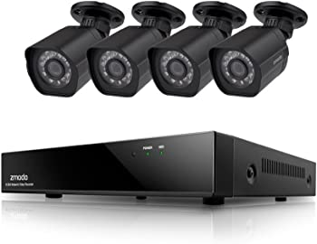 Zmodo Smart PoE 8 Ch. NVR 1080p IP Cameras and Security System
