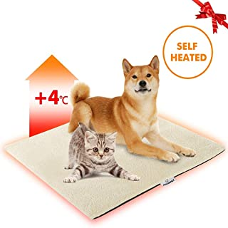 "FOCUSPET Cat Thermal Mat, Pet Heating Pad Dog Bed Mat 28""x20"" Self Heating Pad Dog Cat Bed Pad for Dogs & Cats Waterproof Innovative & Eco Friendly"