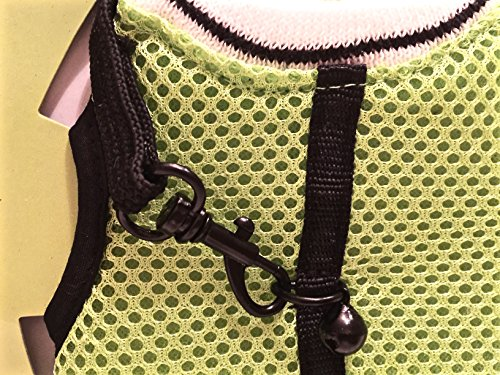 RABBIT/FERRET JOGGING VEST HARNESS WITH LEASH LARGE (LIME GREEN)