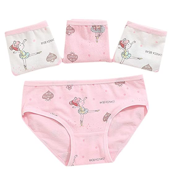 d123a9a87cf74d H.eternal Baby Girl' Short Pants Underwear Briefs Reusable Potty Training Pants  Pack of 4 Elastic Waist brifes Cotton Boxer Nappy Cover Knickers Underpants  ...