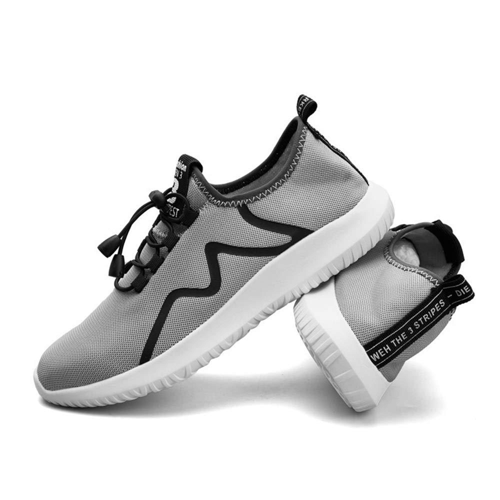 Jincosua Mens Schnürschuhe weiche Sohle Non Slip beiläufige Breathable Multi Sport Trainer (Farbe   Grau, Größe   EU 42)