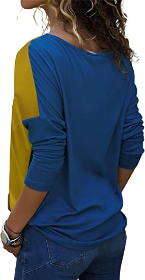 Pull Manche Longue Femme Patchwork T-Shirt
