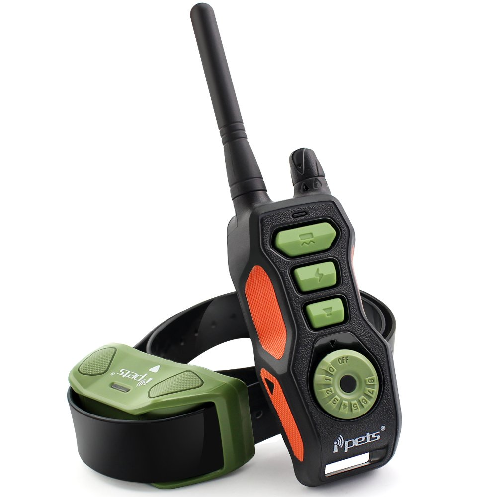 Ipets PET618 Dog Shock Collar 2600ft Remote Controlled Collar 100% Waterproof & Rechargeable Dog Training Collar with Beep Vibrating Electric Collar for Dogs