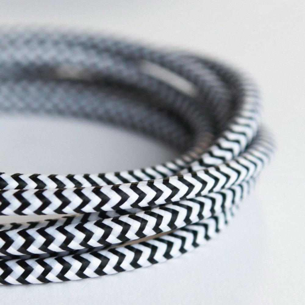 2* 0.75mm 5m Edison vintage textile câble fil électrique câble torsadé rétro textile Fil de suspension Tissu vintage lampe Cordon GIN