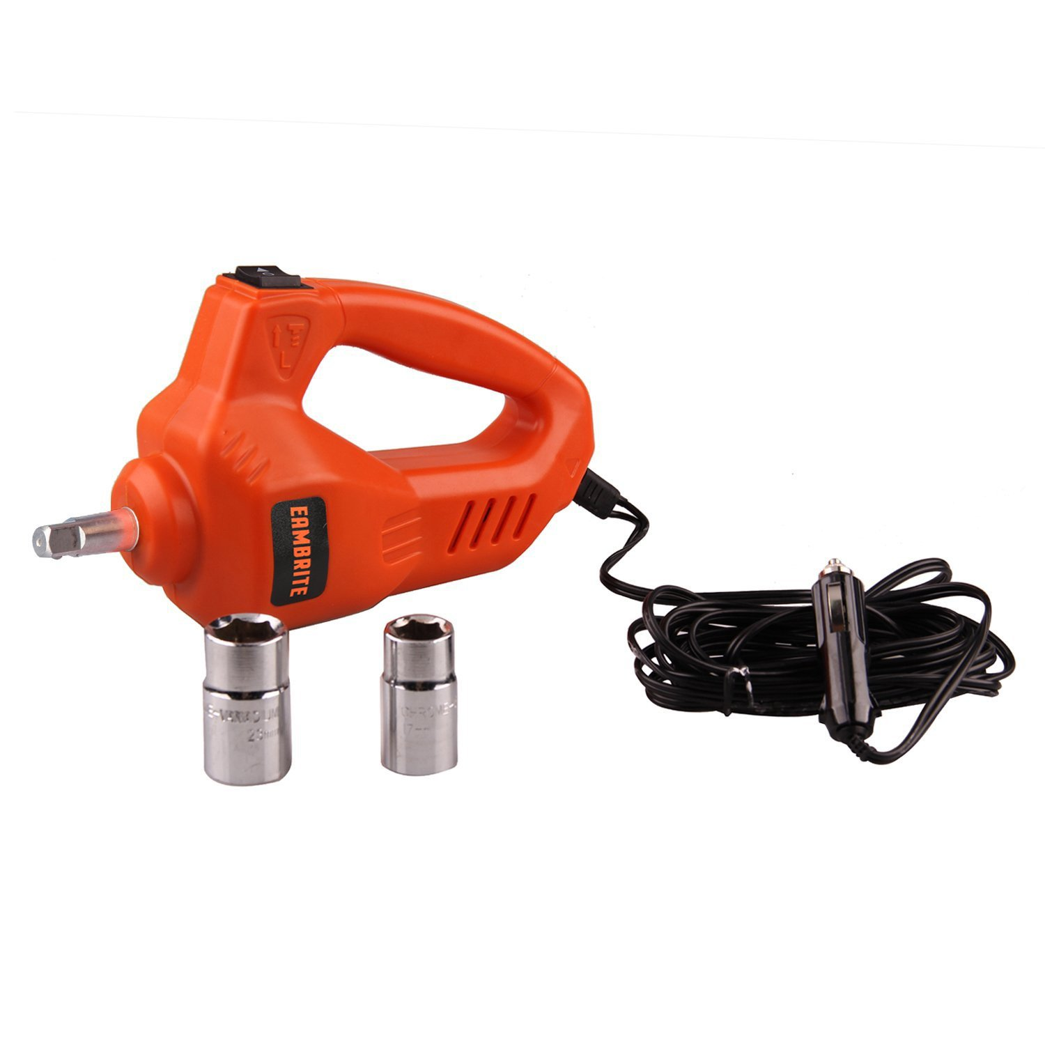 12V DC 1 Ton Electric Hydraulic Floor Jack Set with Impact Wrench For Car Use (6.1-17.1 inch, Orange) by EAMBRTE (Image #7)