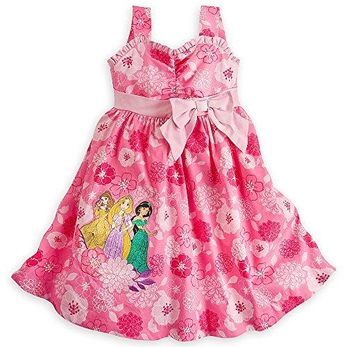 Disney Store Princess Woven Sun Dress Belle Rapunzel Jasmine Girls 5/6 Pink (Disney Princess Pink Dress)