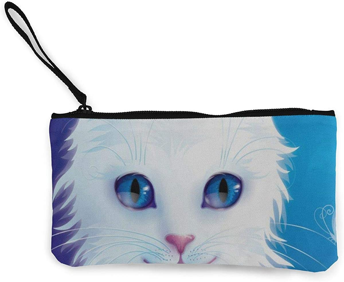 Coin Purse Cats Zip Canvas...
