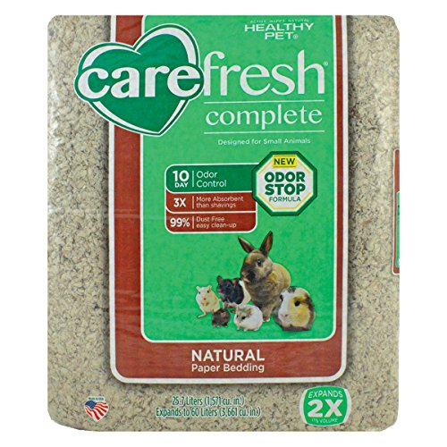 Carefresh Complete Pet Bedding, 60L, Natural, with FREE treat a $4.50 value. (Sugar Glider Bedding)