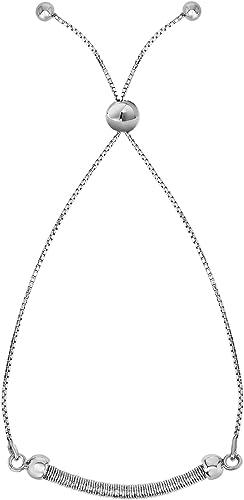 Adjustable Rose Gold Plated Bar Friendship Bracelet 925 Sterling Silver