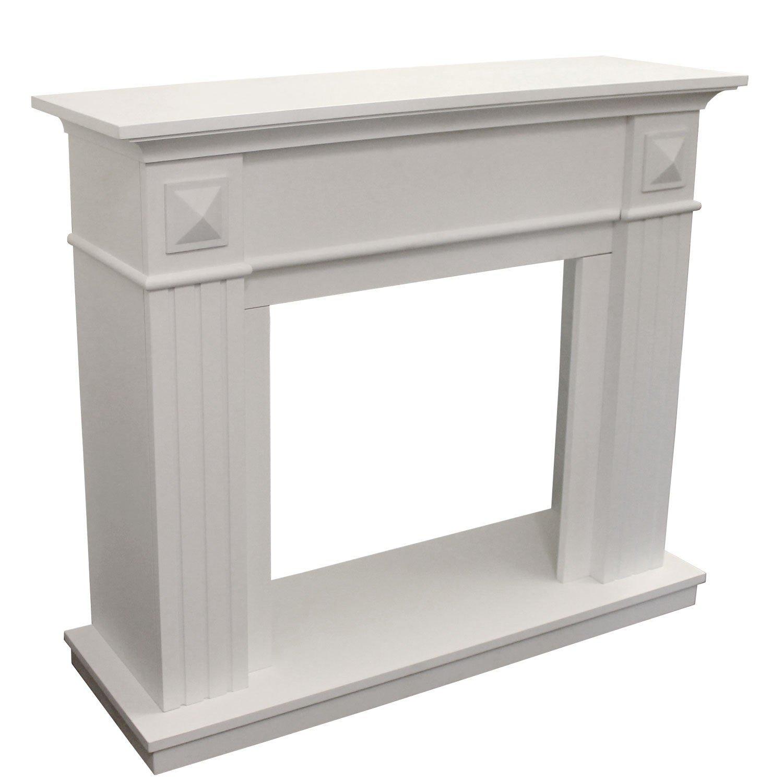 *Elegante Kaminumrandung MDF Weiß 110cm x 96cm*