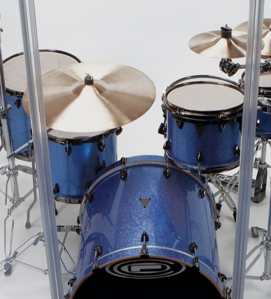 Drum Shield- DS65L Five - 2ft. x 6 ft. Panels with Plastic Full Length Living Hinges by Pennzoni Display (Image #9)