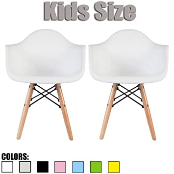 2xhome   Set Of Two (2)   White   Kids Size Eames Armchairs Eames