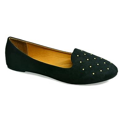 49ec1e64e5a New Ladies Women Black Ballerina Flats Patent Toe Cap Contrasting Ballet  Dolly Pumps Office Elegant Cut Slip On Casual Shoes Size UK  Amazon.co.uk   Shoes   ...