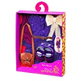 Our Generation Dolls Boho Beauty-18-Inch Doll Purple Dress and Handbag Outfit