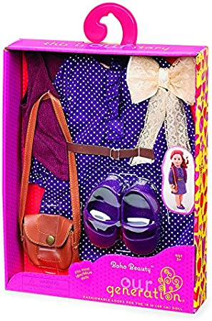 """Fits Our Generation American Girl Doll 18/"""" Dolls Clothes Shoes Purple Clogs"""