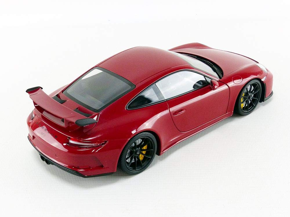 Amazon.com: Minichamps 110067020 1:18 Porsche 911 GT3-2017 - Red with Black Wheels, Multi: Toys & Games