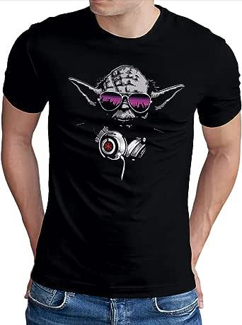 OM3® DJ-YODA - Camiseta para hombre Jedi Headphones Party Club Music Turntables (tallas S - 4XL) Negro XXXL: Amazon.es: Ropa y accesorios