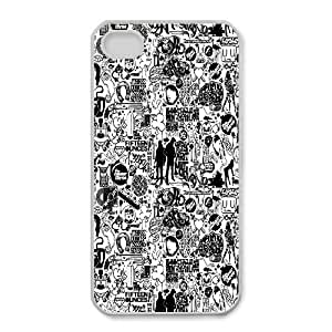 iPhone 4,4S Phone Case Black and White Q6A0559515