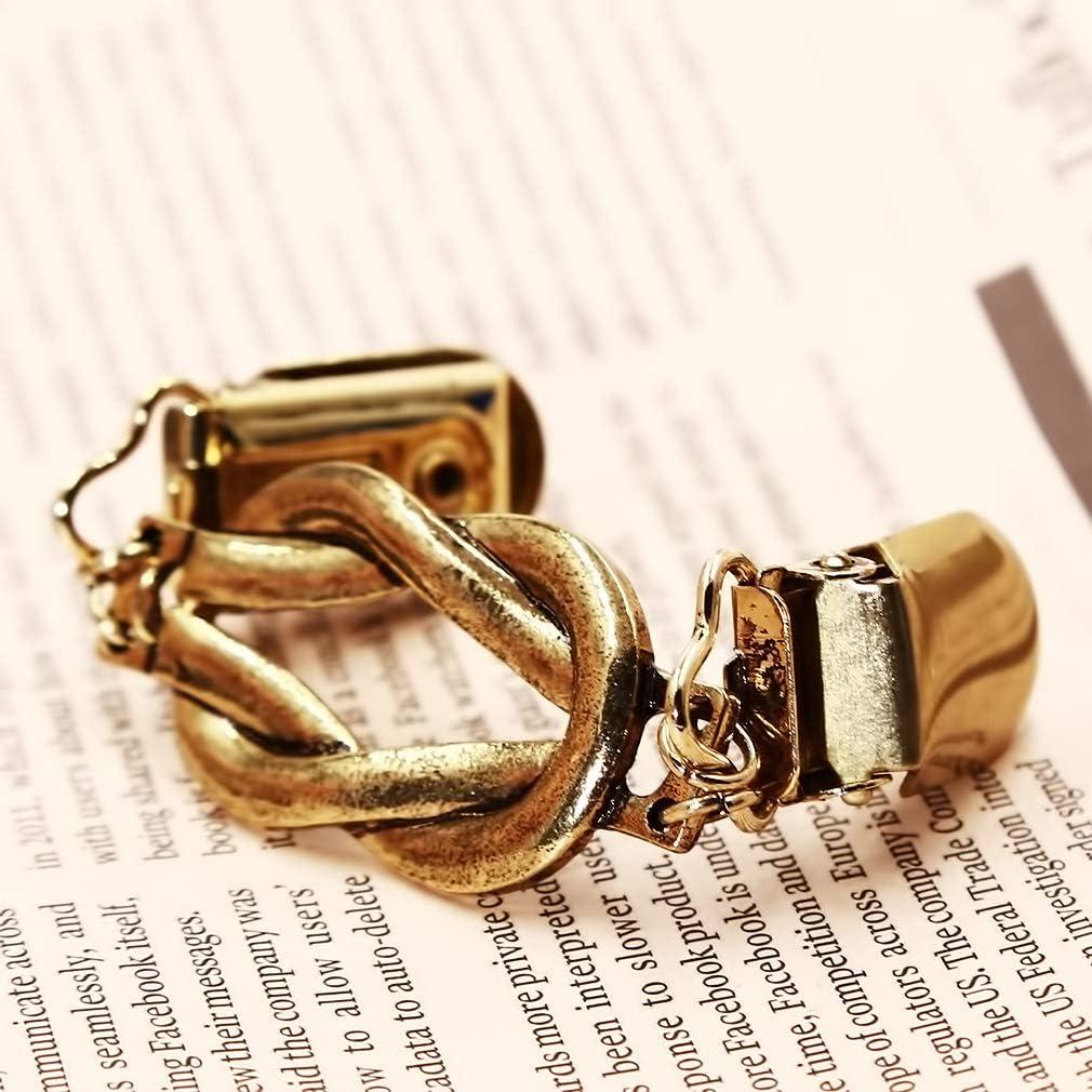 SHIJIAN Pullover Kragen Clip Zink-Legierung Knoten hohl schal Ente Mund Clip Kleid Bluse zubeh/ör,Uraltes Gold