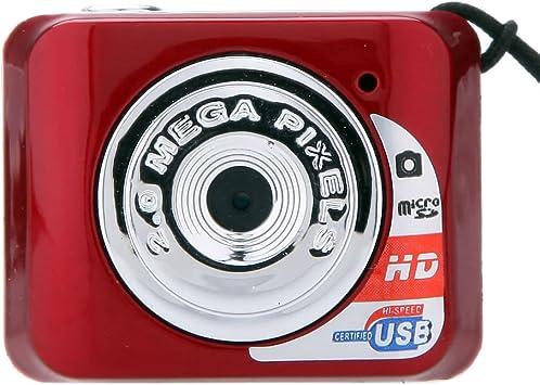 Opinión sobre Edmend TF Tarjeta X3 Mini portátil de Alta Denifition cámara Digital Mini DV Ayuda 32GB con micrófono Videocámara Cámara Digital (Color : Red)