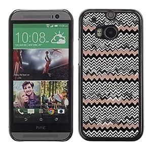 Caucho caso de Shell duro de la cubierta de accesorios de protección BY RAYDREAMMM - HTC One M8 - Pattern Wallpaper Native People