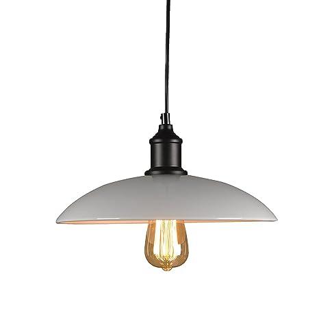 Glighone Lámpara de Techo Luz Vintage Lámpara Colgante Industrial Luz de Pantalla de Metal Estilo Rústico Casquillo E27 No Incluye Bombilla para ...