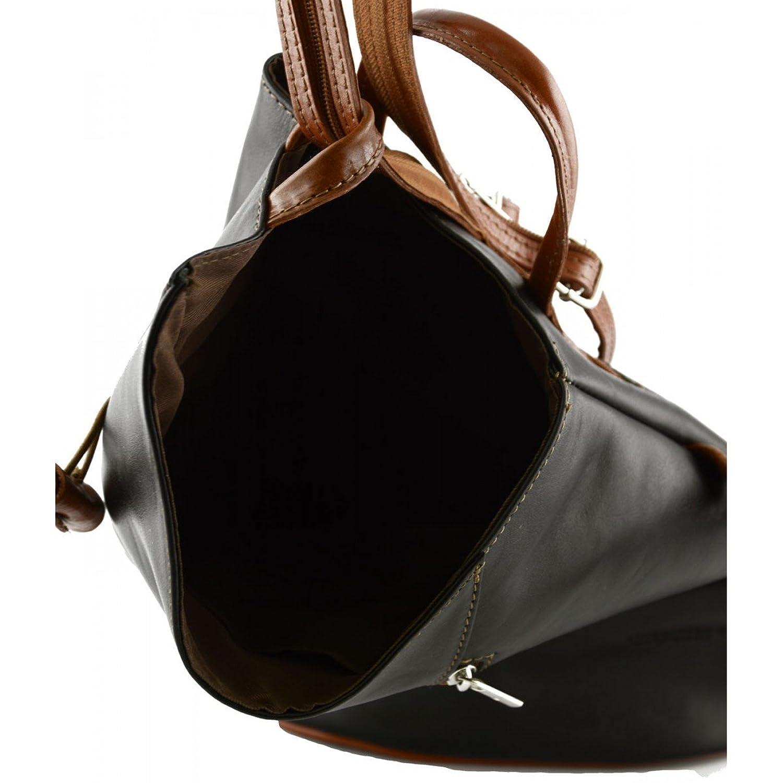Handtasche Aus Leder Mit Geflochtenem Effekt Farbe Cognac - Italienische Lederwaren - Damentasche Dream Leather Bags Made in Italy 97if81f