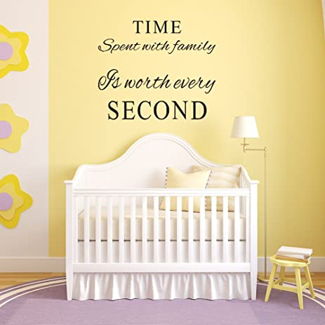 Amazon.com: Family Wall Decals~Time Spent with Family Is Worth Every ...