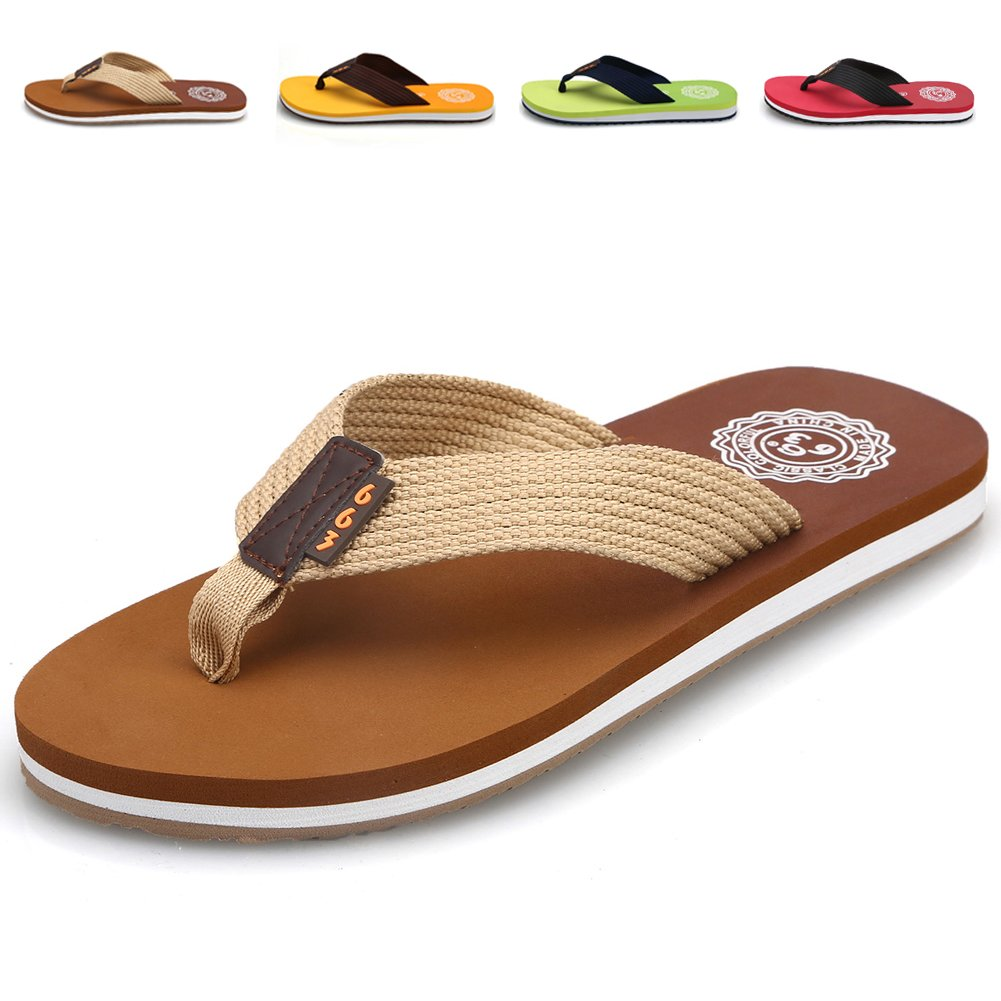 9462f44e7e0f CIOR Men s Classical Flip-Flop Beach Slipper Thong Sandals Comfortable  Handmade Fashion Indoor and Outdoor