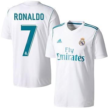 Camiseta del Real Madrid con el nº 7 de Ronaldo, temporada 2017-2018, hombre, blanco: Amazon.es: Deportes y aire libre