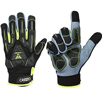 Shock Absorber Winter Full Finger Gloves MTB Bike Riding Racing Sports Gloves XL