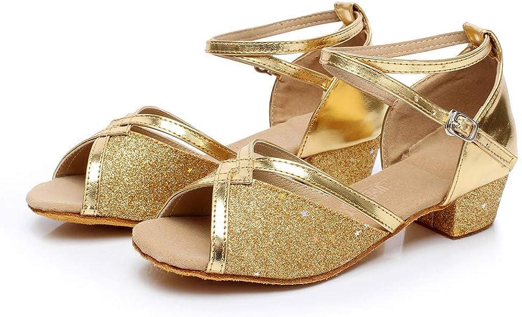 Kleinkind-Schuhe Latein Tanz Schuhe Kinder Party Prinzessin Sandalen Latein Tanzschuhe Ballsaal M/ädchen Tanzschuhe