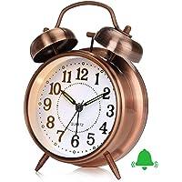 Reloj Despertador Retro, Reloj Despertador Antiguo con Doble