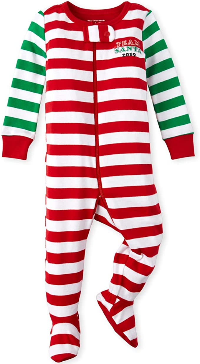 The Childrens Place Baby Girls Long Sleeve One-Piece Pajamas 3