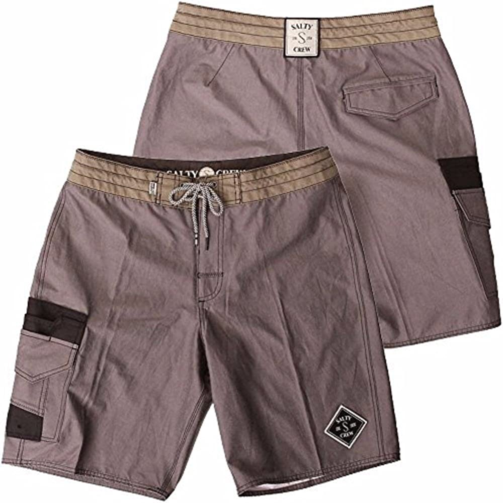 Charcoal Salty Crew Fisher Solid Boardshorts 32
