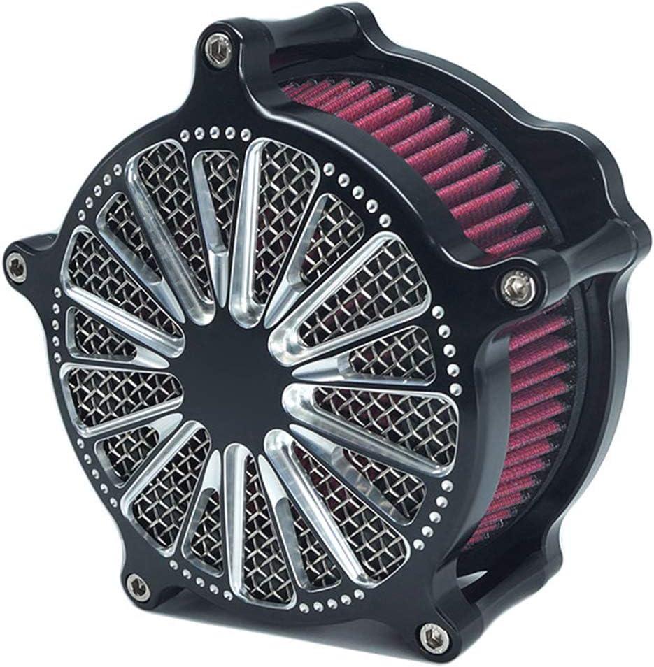 Luftfilter Motorrad Motorrad Turbine Air Cleaner Intake Filter Kit Cnc Cut Chrom f/ür Harley Sportster XL Dyna Softail Touring Street Glide Road Glide 00-2018