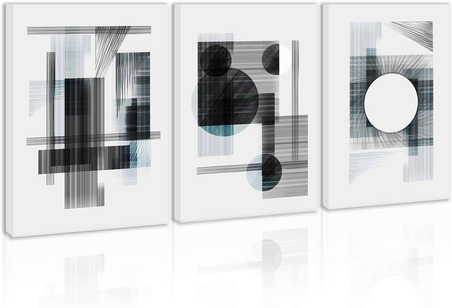 Black and White Abstract Wall Art Decor Canvas Painting Kitchen Prints Pictures for Home Living Dining Room