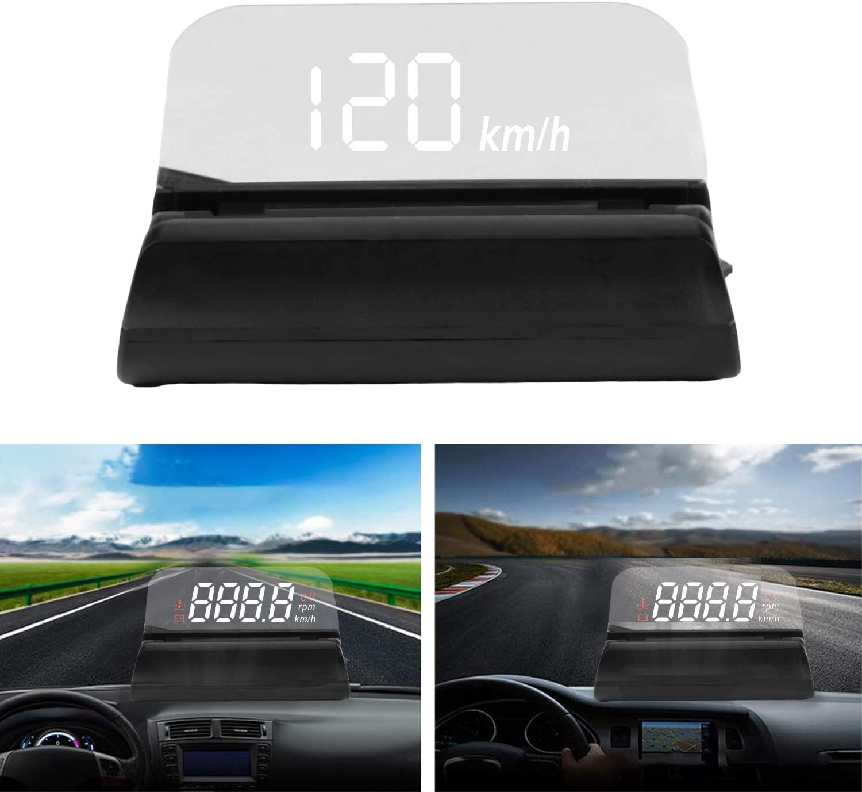Auto Head Up Display Hud Display Obd2 Mit Projektionsfläche Geschwindigkeitsmesser Auto Höhe Überdrehzahlalarm Für Allen Auto Auto