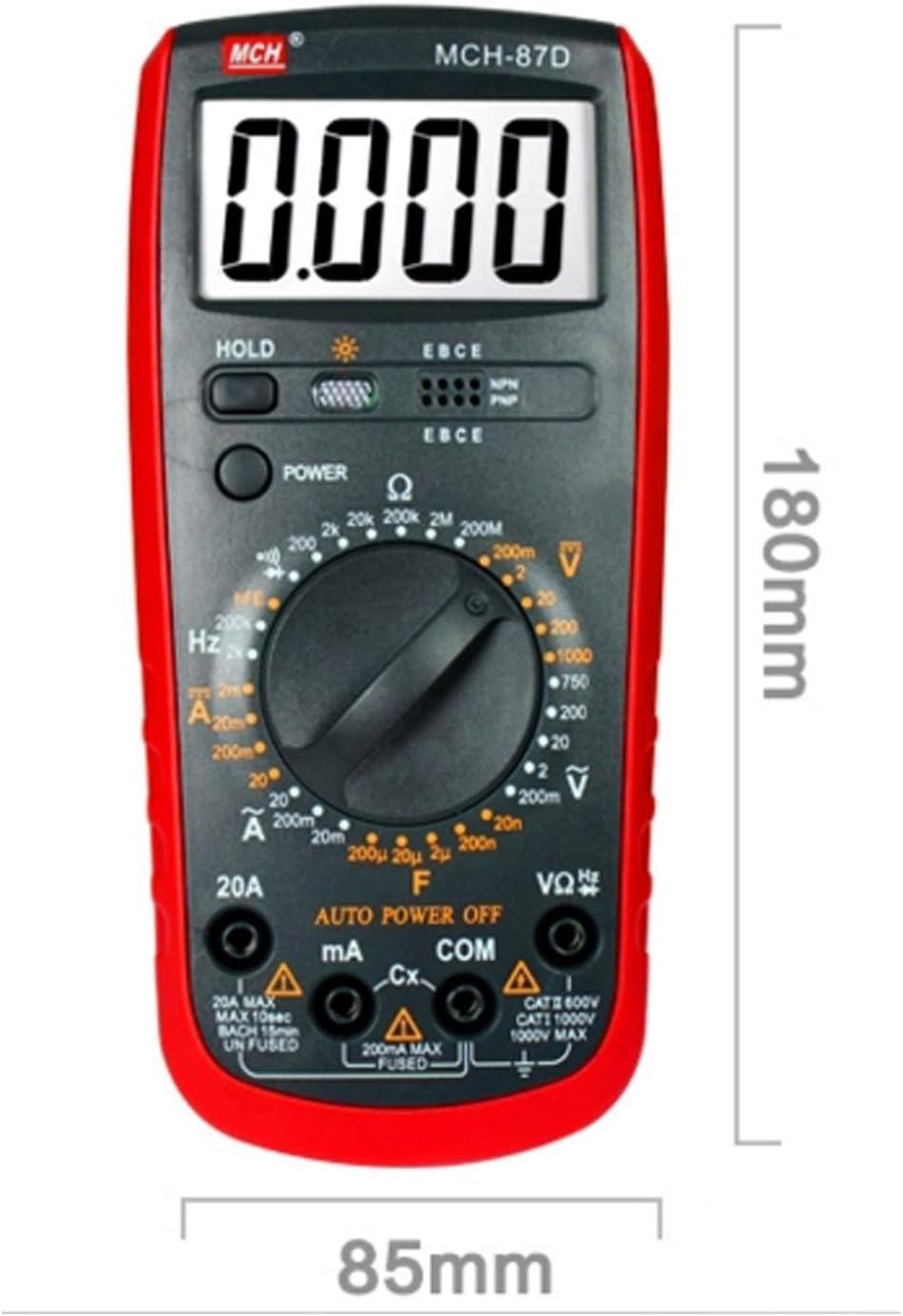 EODUDO-Tester Four and a Half Digital Multimeter Handheld High-Pressure Anti-Burning Universal Strap Table Pen MCH-87D,Precision Measurement