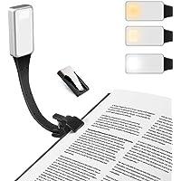 E-More Leeslamp, LED boekenlamp Oplaadbaar Leeslampje Voor Nachtogen Boeklicht Cliplamp met 3 Helderheidsstanden…