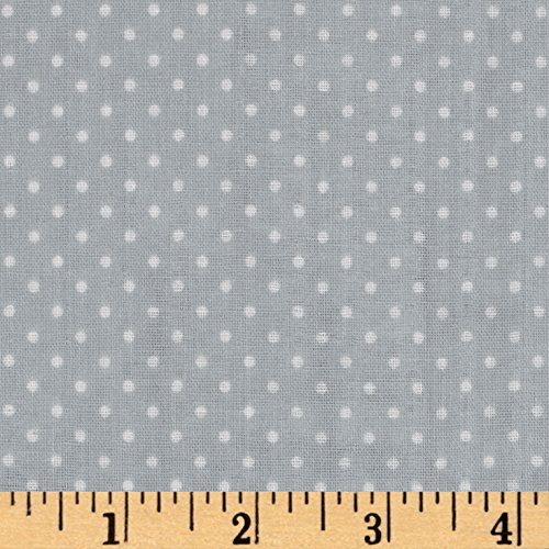 Robert Kaufman Kaufman Baby Basics Double Gauze Dot Grey Fabric by The Yard,