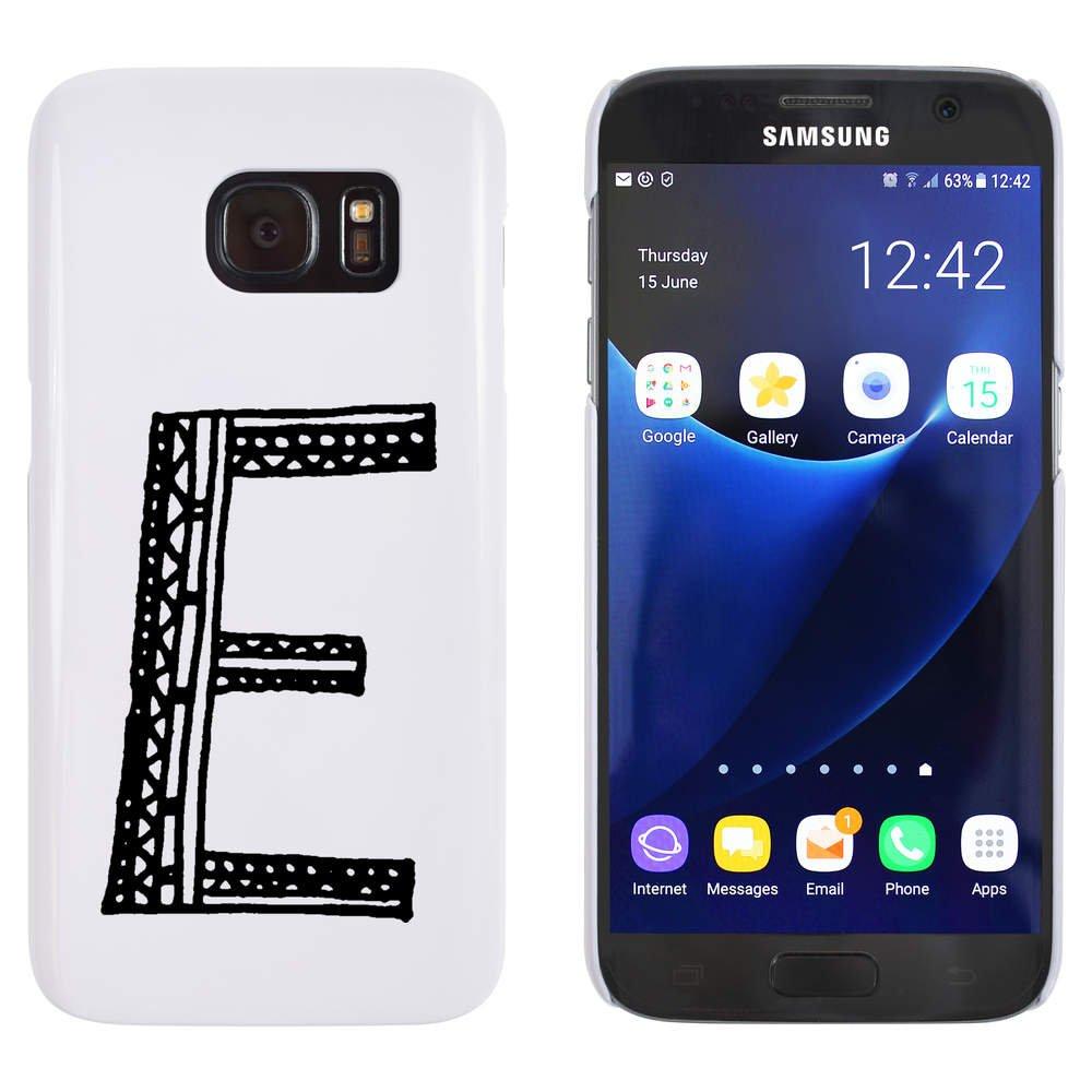 Azeeda Blanco 'Mayúscula E' Funda / Carcasa para Samsung Galaxy S7 (MC00014592)
