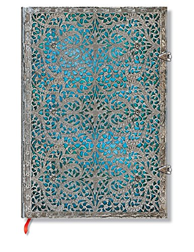 - Maya Blue Journal: Unlined Grande (Silver Filigree Collection)