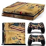 ZoomHit Ps4 Playstation 4 Console Skin Decal Sticker Desert War USA + 2 Controller Skins Set