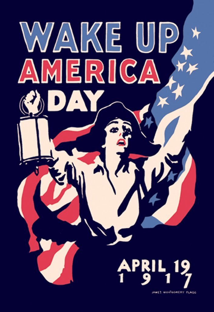 Buyenlarge Wake Up America Day April 19, 1917 by James Montgomery Flagg Wall Decal, 48'' H x 32'' W by Buyenlarge